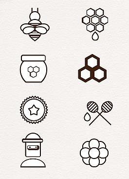 簡約線條設計蜜蜂主題