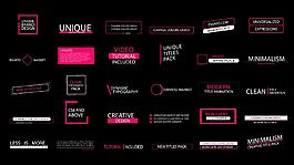 简约设计的4K级文字标题排版动画AE模板