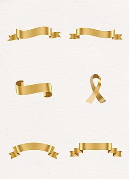 6款絲帶條幅裝飾素材