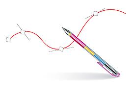 簡單畫畫的彩色自動鉛筆