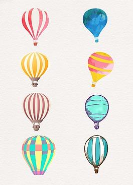條紋卡通設計熱氣球