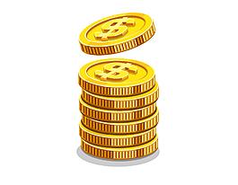 卡通金币矢量图