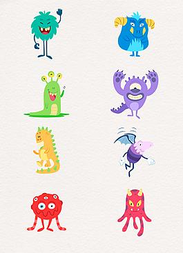 小清新彩色小怪物設計