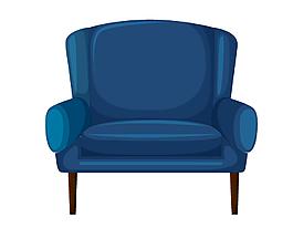 單人沙發椅矢量圖
