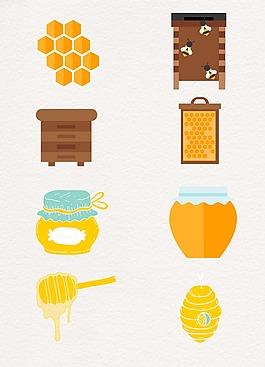 精致卡通蜂蜜蜜糖设计