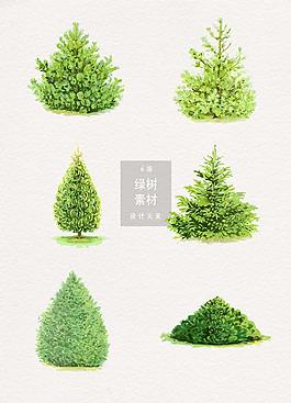 矢量绿树设计元素