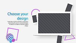 網站開發或網頁設計的宣傳演示片AE工程