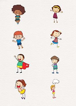 時尚卡通設計人物孩子