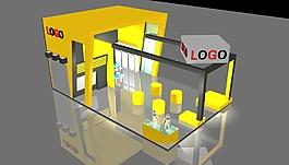 機械展位展覽模型素材