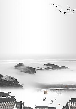 中國風水墨海報背景