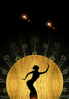 孔雀舞海报背景
