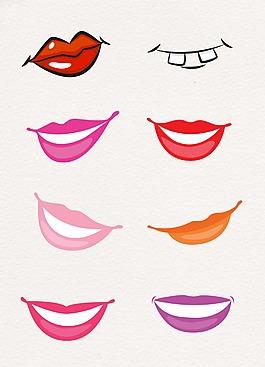 微笑人物嘴唇設計