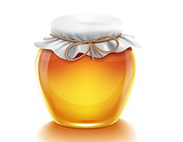 一罐蜂蜜矢量圖