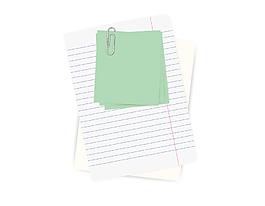 便簽紙矢量素材