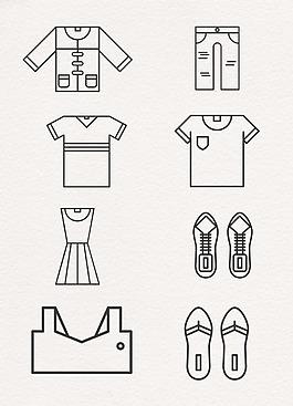 線條設計衣服服裝