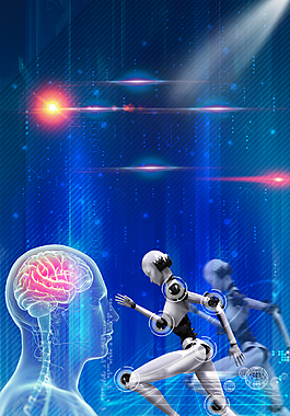 藍色科技未來背景