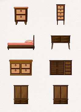 中式復古手繪實木家具設計