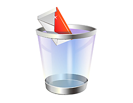 小型透明垃圾桶矢量圖