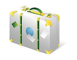 卡通行李箱矢量素材