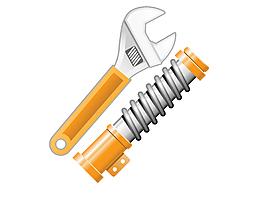 金屬維修扳手矢量圖