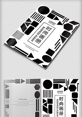 黑白时尚个性艺术画册封面