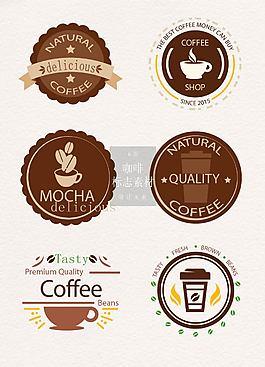 復古的咖啡標志矢量素材