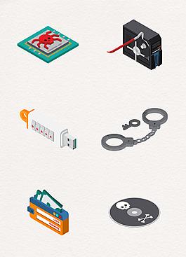 6款現代數碼產品裝飾素材