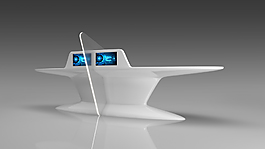 开放式柜台3D模型
