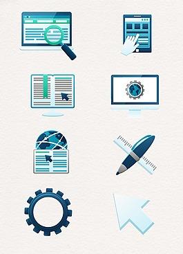 绿色商务互联网设计图案