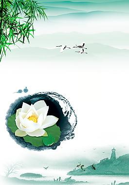 美麗雅致蓮花廣告背景