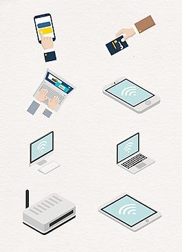 网络科技WiFi设计图案
