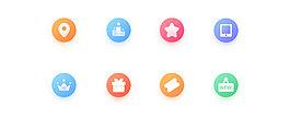 简洁渐变彩色手机图标素材