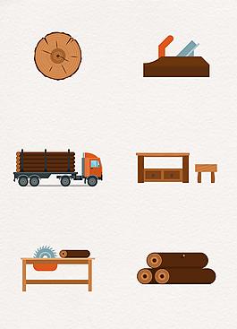卡通木材加工設計