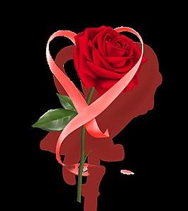 紅色玫瑰花裝飾素材