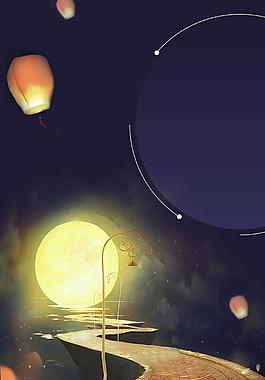 中秋節海報背景設計