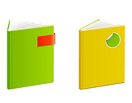 矢量彩色书本元素