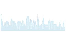 小清新簡約城市元素