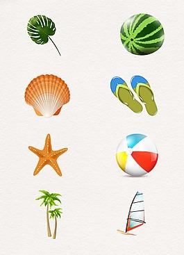 創意夏日度假設計圖案