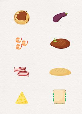 簡約食物圖標設計