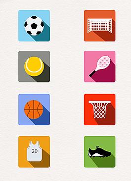 8款精致體育元素圖標矢量素材