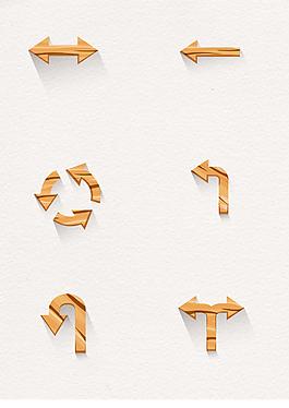 6款木制箭头设计矢量素材