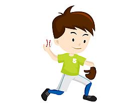 卡通兒童鍛煉身體元素