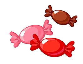 矢量彩色糖果元素