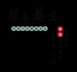 草本養生文化之美中國風中醫藝術字設計