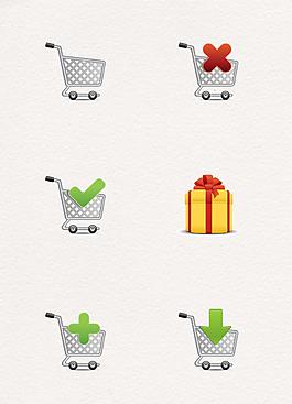 手繪創意購物圖標素材