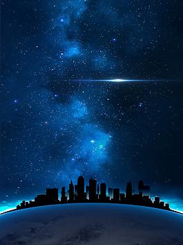 夜晚城市招聘背景