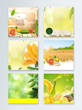 水果美食促銷夏末瘋狂甩賣主圖背景圖