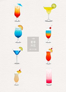 夏季冷饮鸡尾酒素材