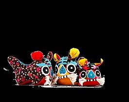 虎頭鞋傳統文化藝術字中國風