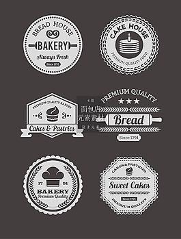 面包店圖標矢量素材